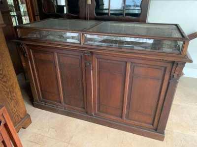 Vintage shop counter display cabinet