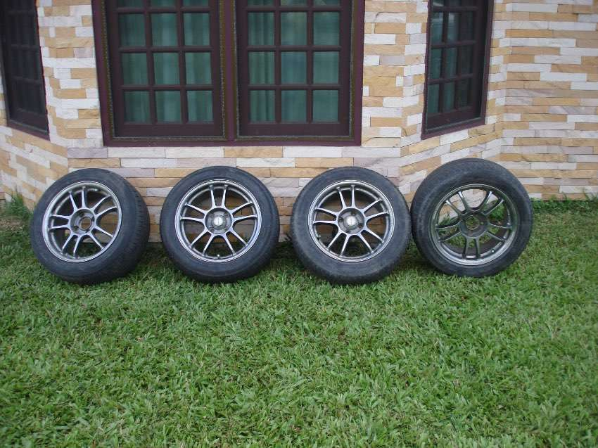 15 INCH ALLOY WHEELS FOR NISSAN, & OTHERS WITH SIMILAR 4 BOLT PATTERNS