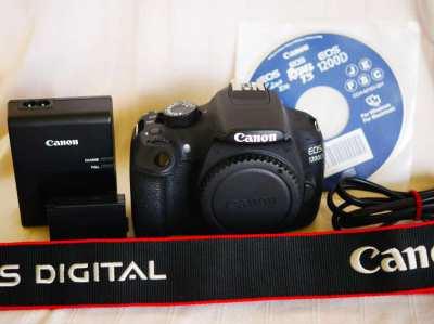 Canon EOS 1200D Rebel T5 Kiss X70 Black body
