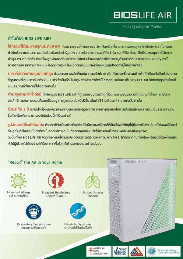 Air Purifier Asthma Attacks, increased Allergy, Frequent Headaches,