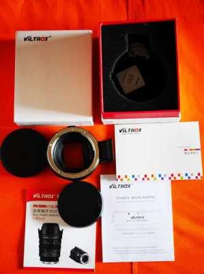 Viltrox EF-NEX IV Lens Mount Adapter Ring in Box.