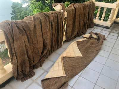 bed cover and curtains - must sell