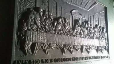 Large, Cast Iron Plaque of The Last Supper 25