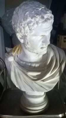 Bust of Antoninus (also known as Caracalla)  Life size.