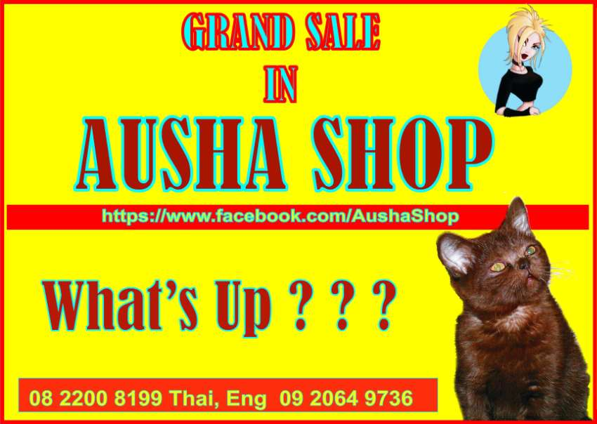 Many electronics and computers and others in AUSHA SHOP !