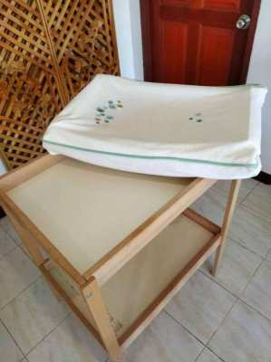 IKEA baby cot, changing table + accessories