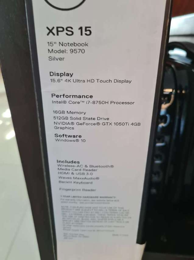 New Dell XPS  laptop for sale with upgraded RAM to 32GB and SSD to 1TB