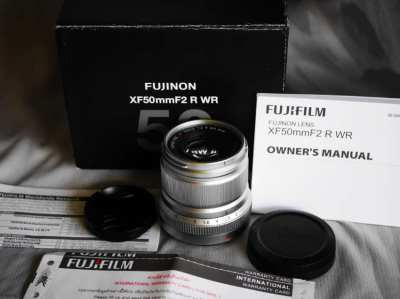Fuji Fujinon XF 50mm F/2 R WR Silver Prime Lens in Box for X Mount