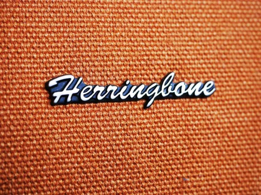 Herringbone camera bag / case. Color: Sand