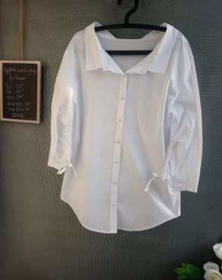 Wide Neck All White Oversize Shirt by hyphen world gallery (PEACE)