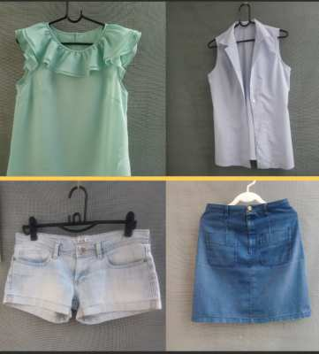 Woman blouses & Jeans 4 items at 50 baht each