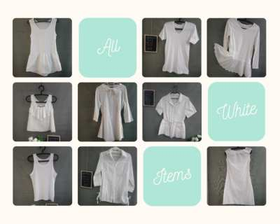 You can never go wrong with white. All Items At One Price 50 Baht