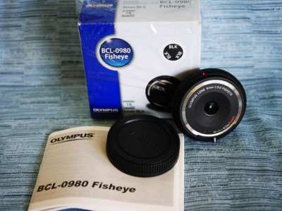 Olympus Fisheye 9mm F8.0 Body Cap Lens Black, Fish Eye BCL-0980