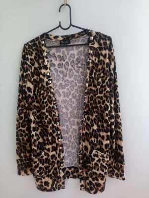 Woman Leopard Print Cardigan