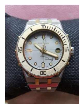 BREITLING TABARLY 81460 STEEL/GOLD 18 K - PERFECT CONDITION VINTAGE -