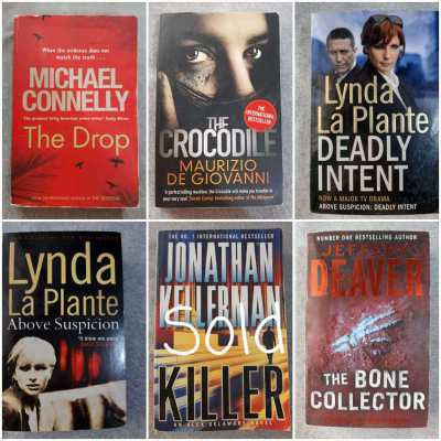 Top Notch Crime Thrillers; LaPlante/Connelly/Deaver/Giovann