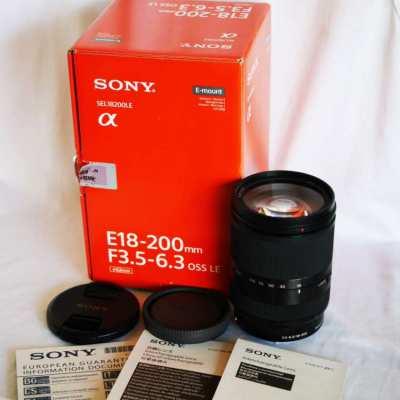 Sony E 18-200mm f3.5-6.3 OSS Black lens in Box