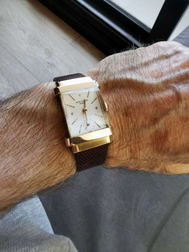Beautiful rose gold tank watch, Patek Philippe  ref, 1450