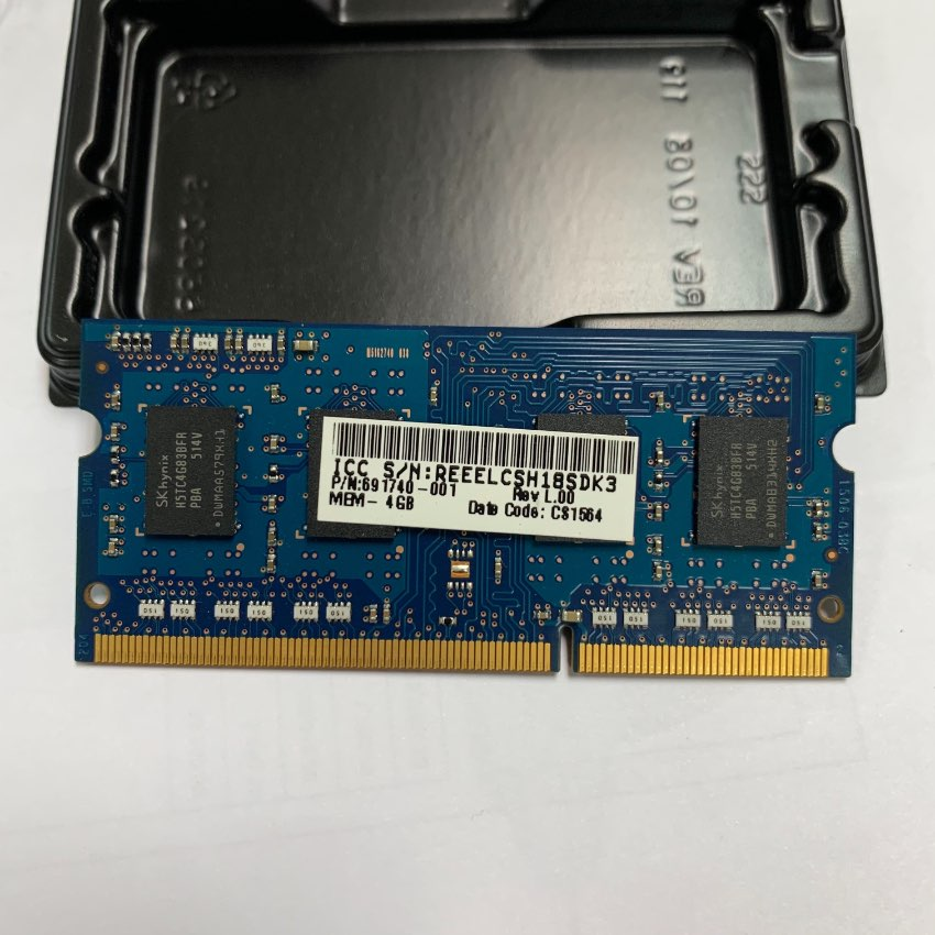 แรมโน๊ตบุ๊ค RAM DDR3L 4GB PC3L 12800s (1600 NB) 4GB SKHynix 8 Chip
