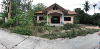 ★ RARE OPPORTUNITY 1 Rai Land & Unfinished House | Mabprachan