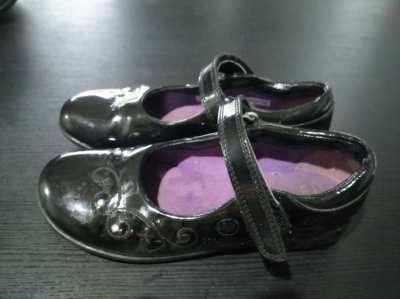 Kids Clarks Girls Black Patent Leather Shoes - 2 Pairs - Reduced Price