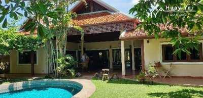 #3133  BEAUTIFUL THAI BALI POOL VILLA IN ULTRA QUIET RURAL POSITION