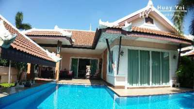 MOST ATTRACTIVE RAISED POOL VILLA IN QUIET GATED VILLAGE. VERY PRIVATE