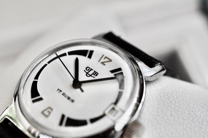 Beautiful GUB Glashutte Vintage Watch 34mm Cal 69.1.