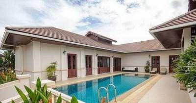 Hot! -3,010,000! Furnished Pool Villa in 24 Hour Secure Development