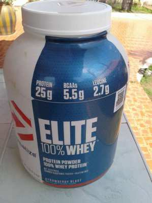 Canister Protein powder. 100% whey.