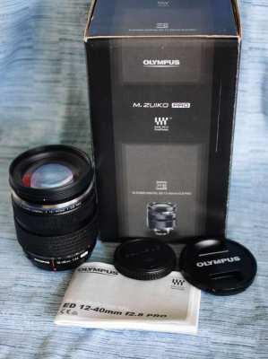 Olympus 12-40mm F2.8 PRO Splashproof Black Lens in Box