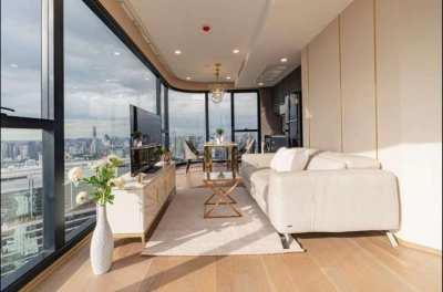 Condo for Rent 公寓出租 Ashton Chula Silom MRT Samyan 2BR 53FL 66 sqm