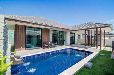 Modern pool villa for rent in Hua Hin