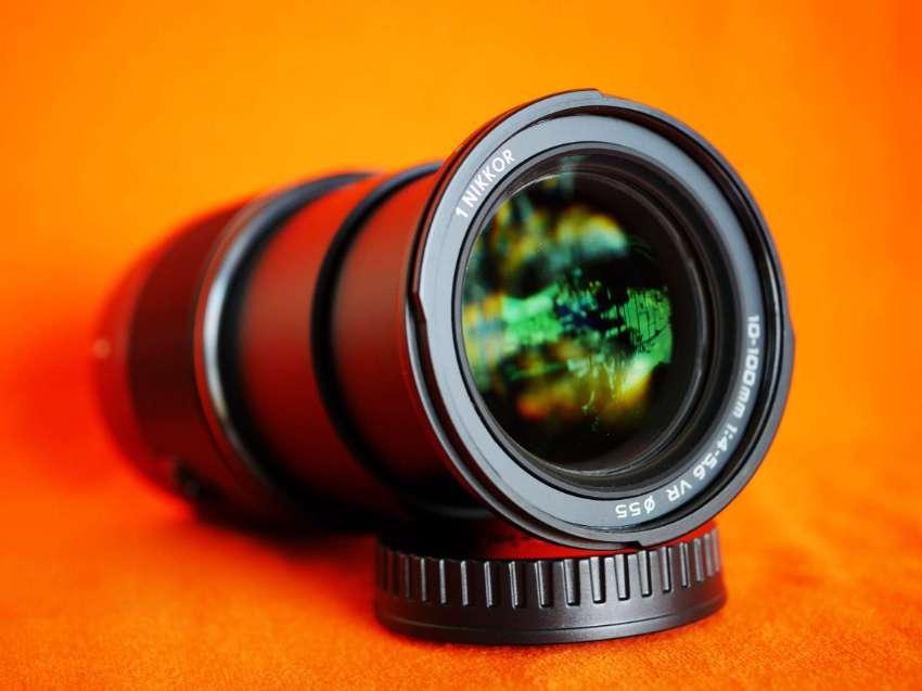 Nikon 1 Nikkor 10-100mm f/4-5.6 VR Zoom Lens in Box - Black