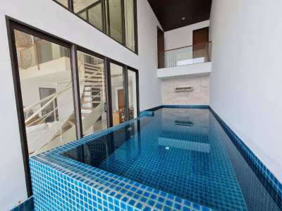 Sea view double floor condo in beachfront project in Rayong