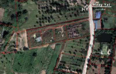 #1284  3 land plots plus further larger plot with uncompleted villa