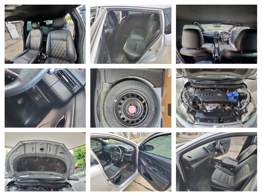 ขาย รถเก๋ง Toyota Yaris 1.2E สีเทา ปี2014 สันทราย เชียงใหม่