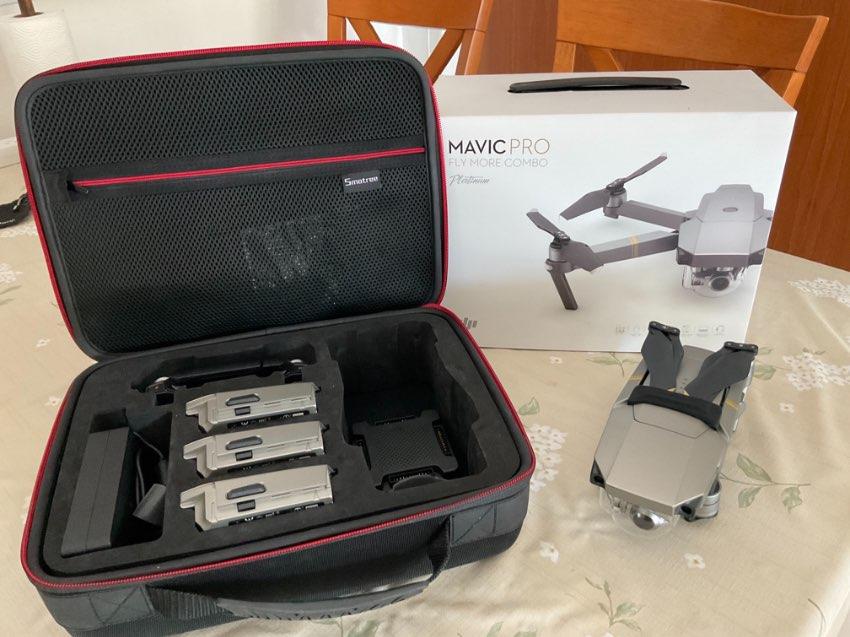Drone , DJI Mavic Pro Platinum Fly More Combo Kit + Extras