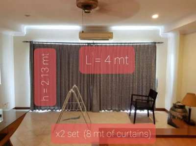 Curtains day n night 4 m long x2 sets, including all accessories
