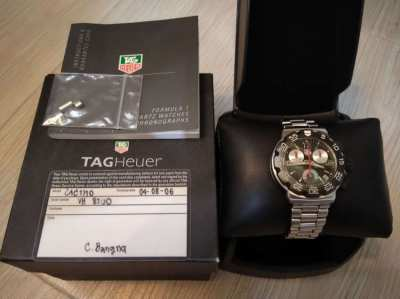 Tag Heuer F1 41mm CAC1110 Chronograph Watch Box & Papers - Quick Sale