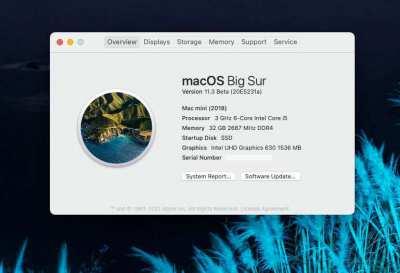 Mac Mini 2018 เครื่องผลิตปี 2020 ตัวท๊อป i5, 6 core SSD 512GB CTO Ram