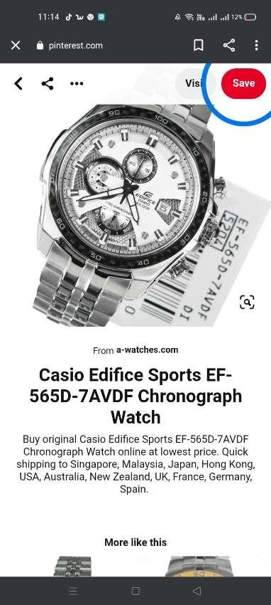 CASIO EDIFICE CHRONOGRAPH 1/100