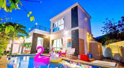 Furnished 2 Story Pool Villa With Mountain Views - 10 Min. To City