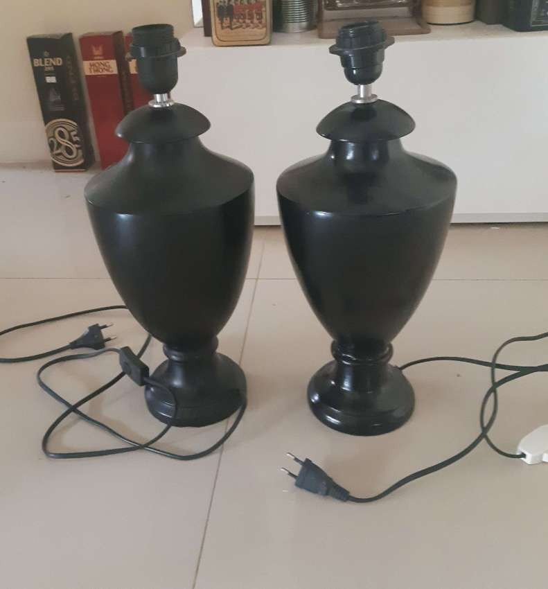 A pair of standard lamp / bedside