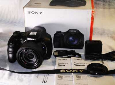 Sony HX350 Black Camera in Box with Carl Zeiss® Vario-Sonnar f2.8 lens