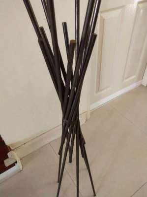 Floorstanding Metal Bar Candlestick Holder