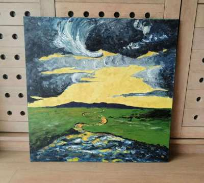 Painting. Oil on canvas. 1meter x 1 meter