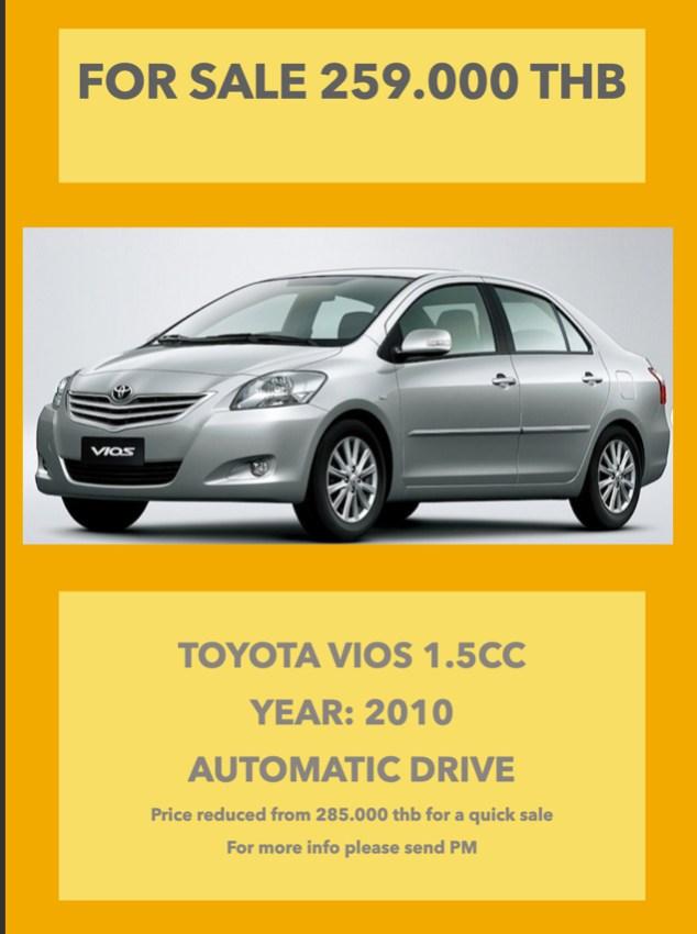 Toyota Vios for sale Samui