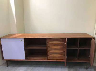 For sale this beautiful design walnut Italian Cabinet