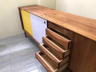 For sale this beautiful design walnut Italian Cabinet